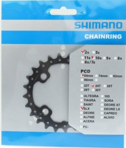 Tarcza Mechanizmu Shimano SLX FC-M675 24T-AM